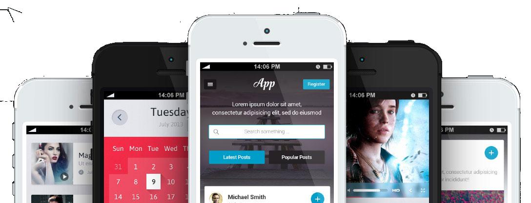 fotos de móviles para mostrar la app